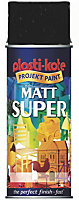 Plasti-kote Super Black Matt Spray paint 400 ml