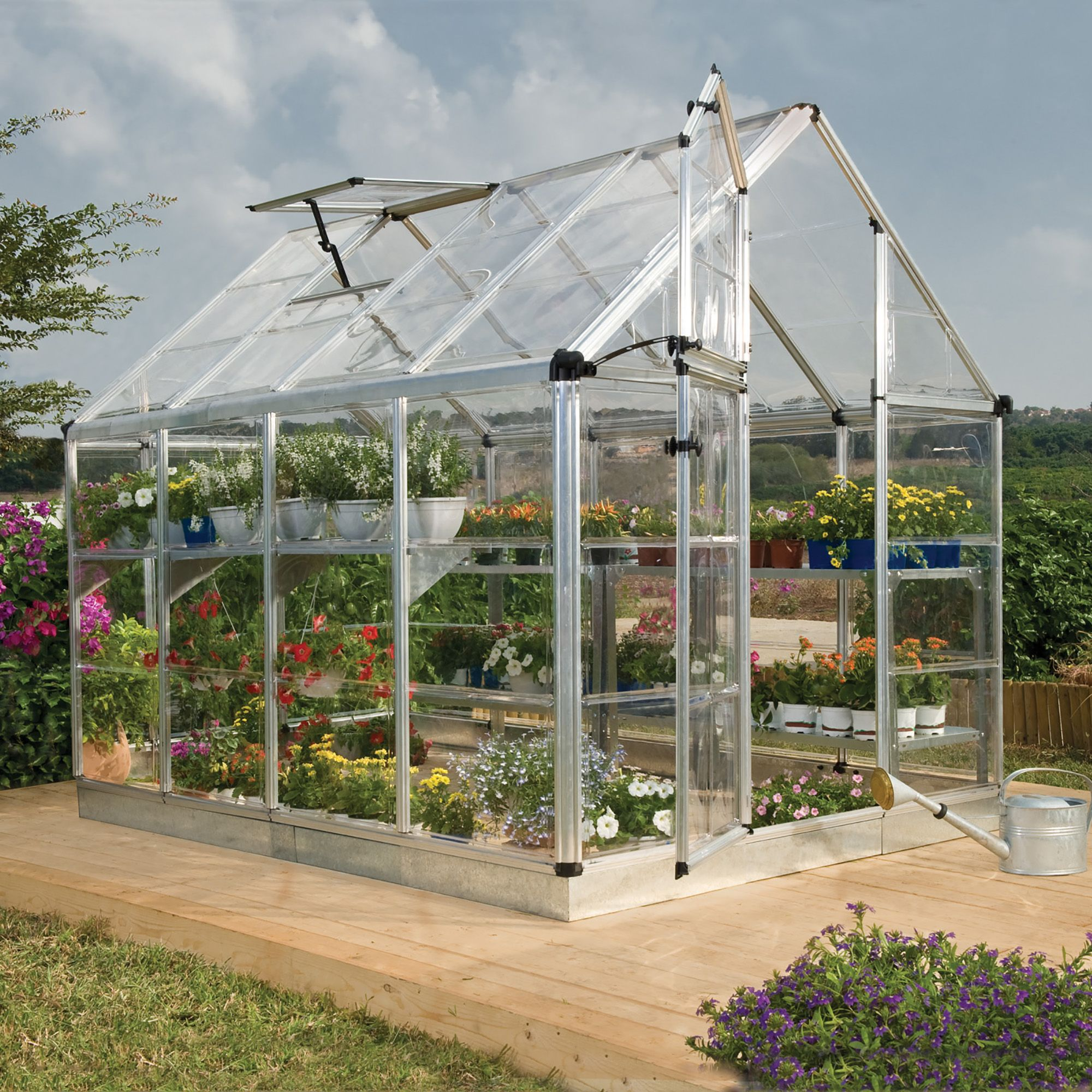 Palram Snap Amp Grow 6x8 Polycarbonate Greenhouse