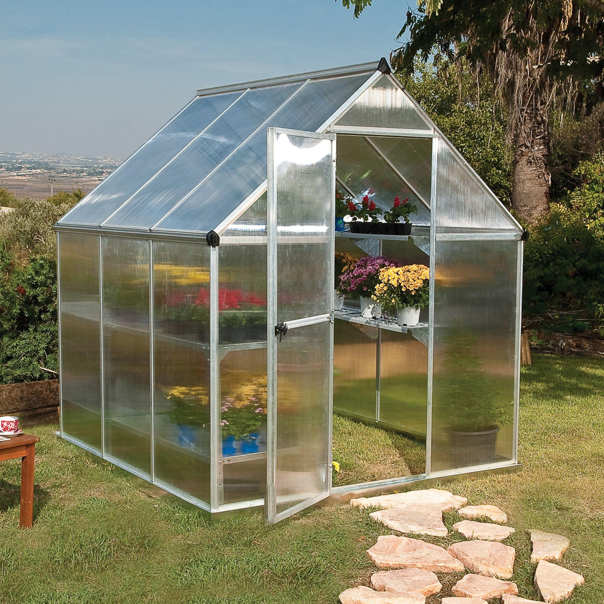 Palram Mythos 6x6 Polycarbonate Apex Greenhouse