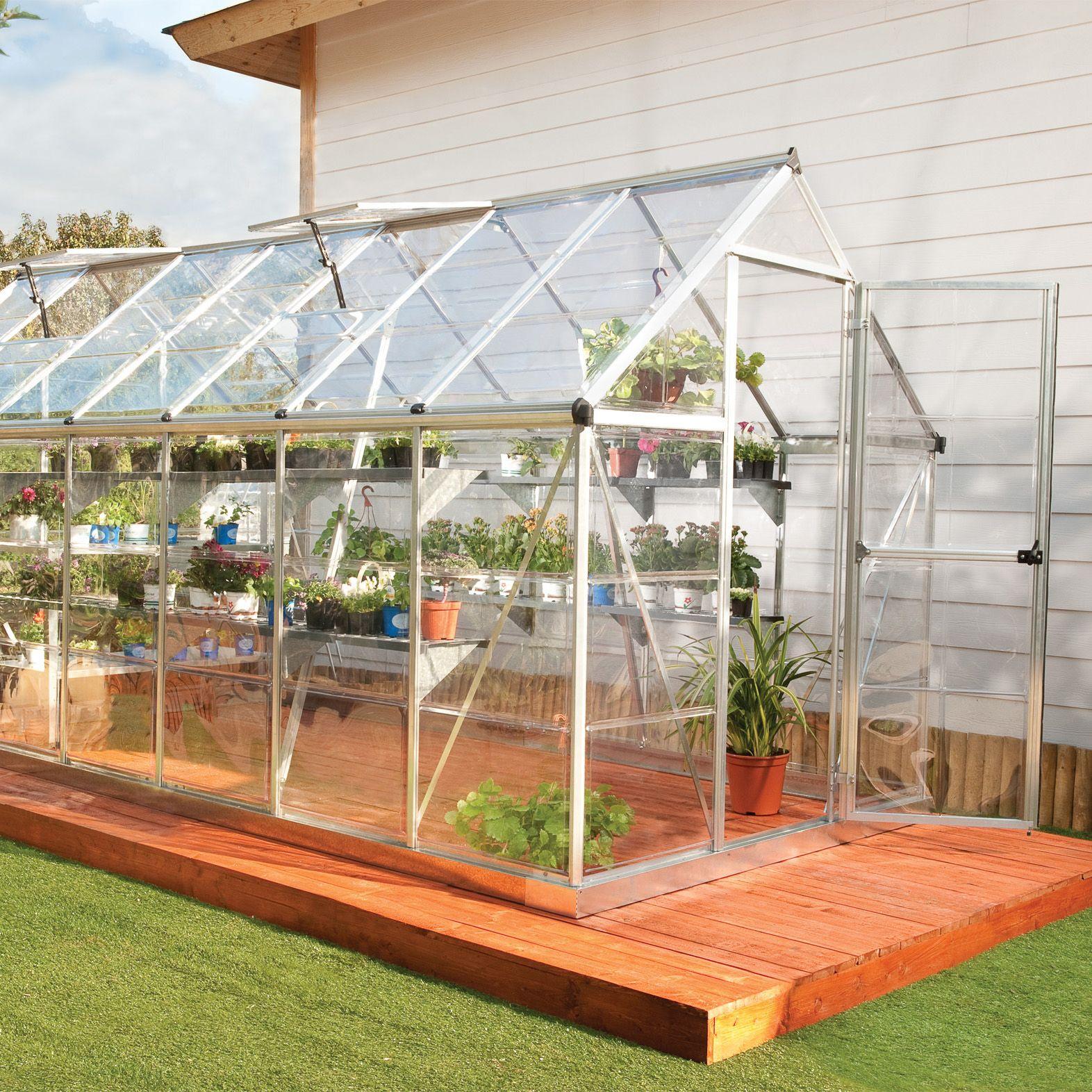 Palram Harmony 6x14 Polycarbonate greenhouse | Departments | DIY at B&Q