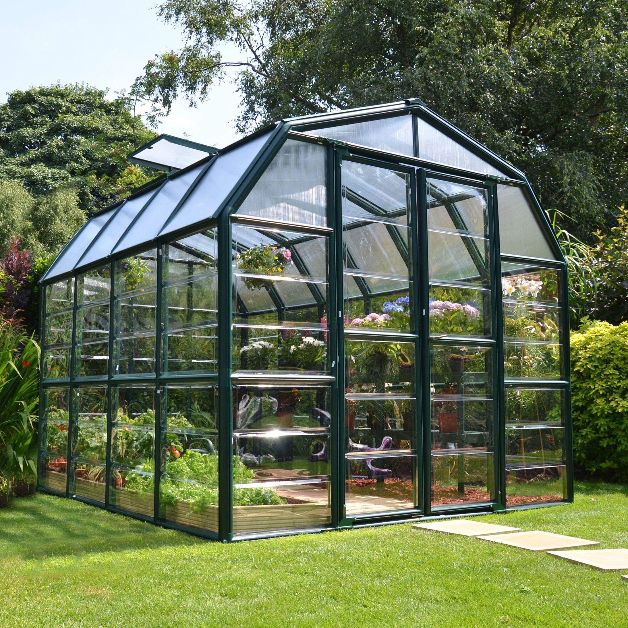Window Greenhouse Insert Kitchen Window Greenhouses: Rion Grand Gardner 8x8 Acrylic Glass Greenhouse