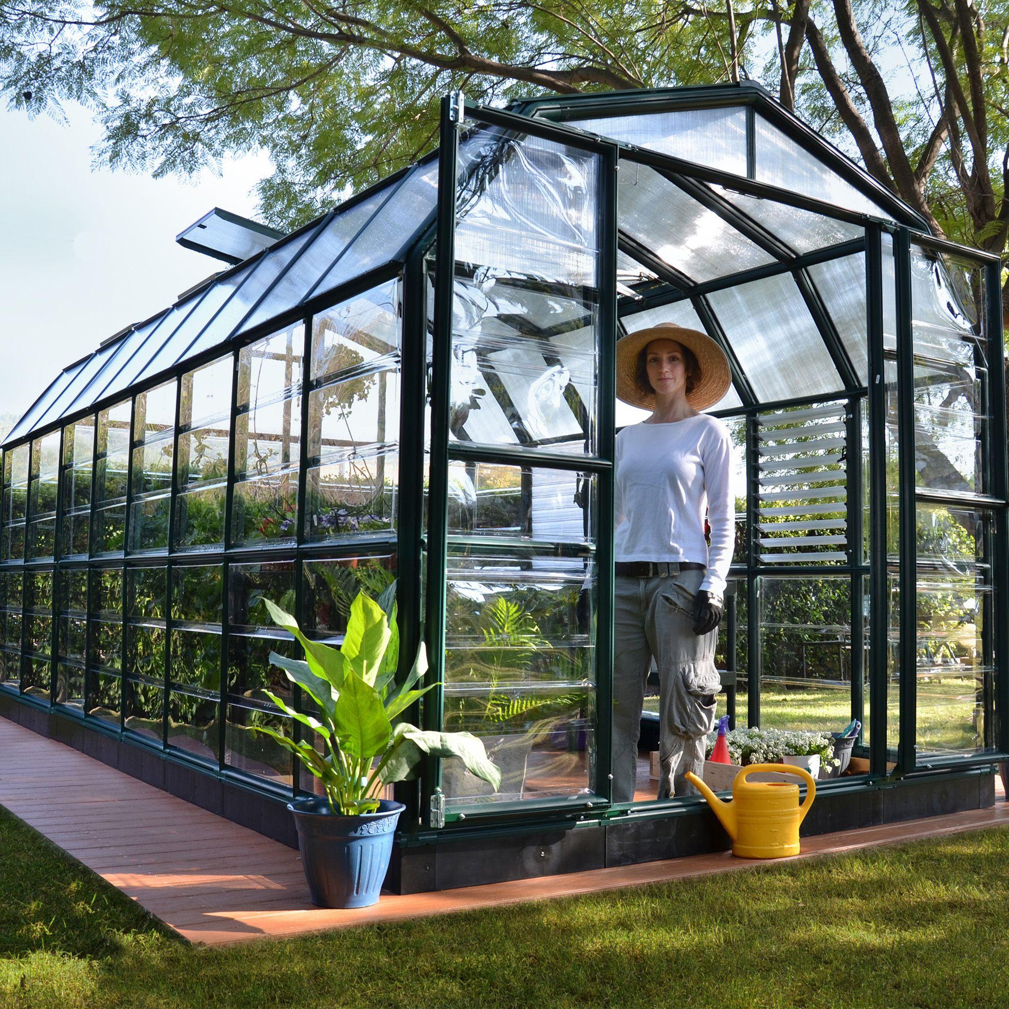 Window Greenhouse Insert Kitchen Window Greenhouses: Rion Grand Gardner 8x20 Acrylic Glass Greenhouse