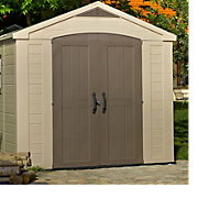 8x6 Factor Apex roof Plastic Shed