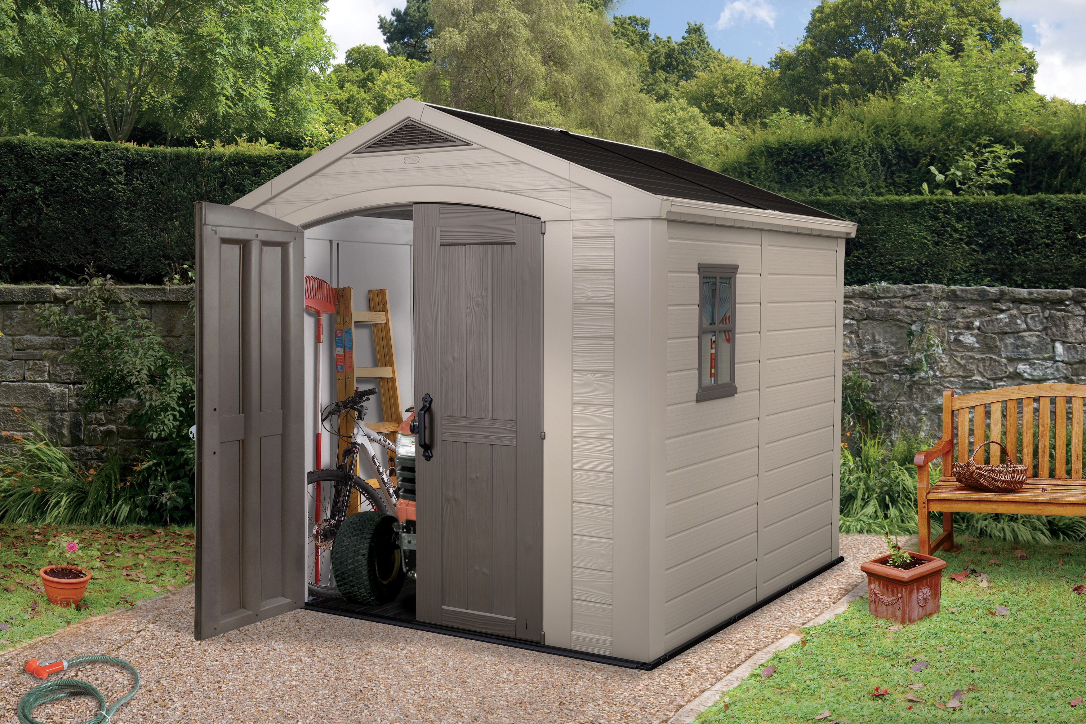 8x8 Factor Apex Plastic Shed Departments Tradepoint