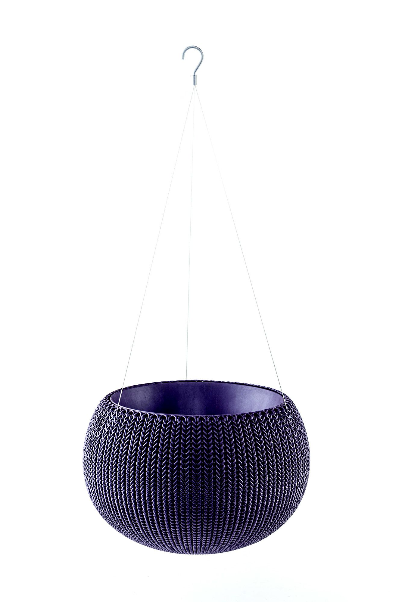 Keter Knitted Effect Purple Hanging Basket 355 6 Mm