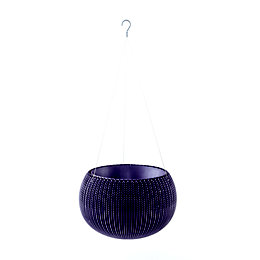 Keter Knitted Effect Purple Hanging Basket 355.6 mm