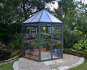 OASIS 8 FT HEXAGONAL GREENHOUSE