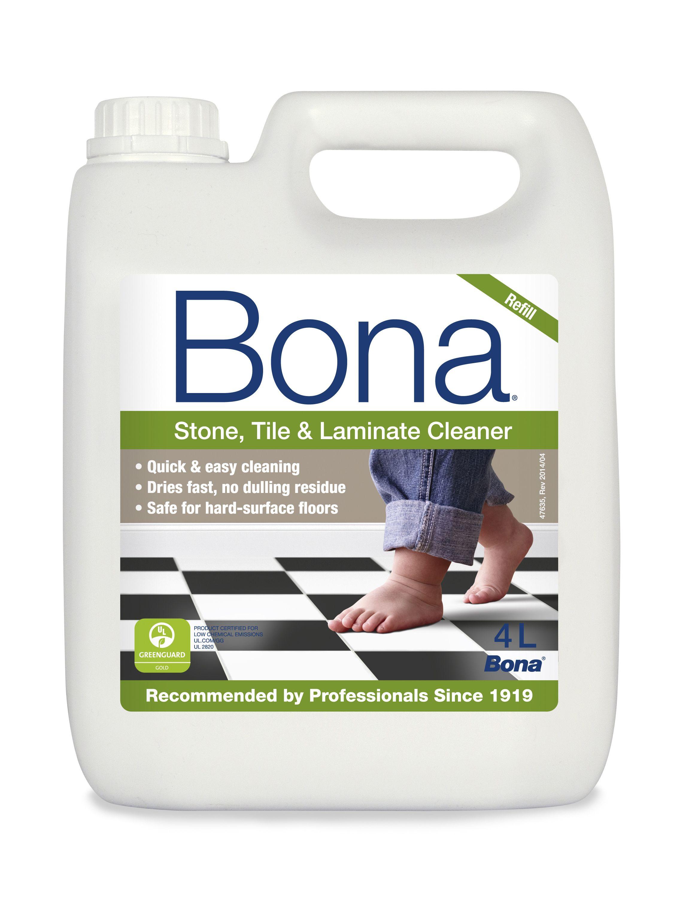 Bona Stone Tile Laminate Floor Cleaner Refill 4000 Ml Departments Diy At B Q