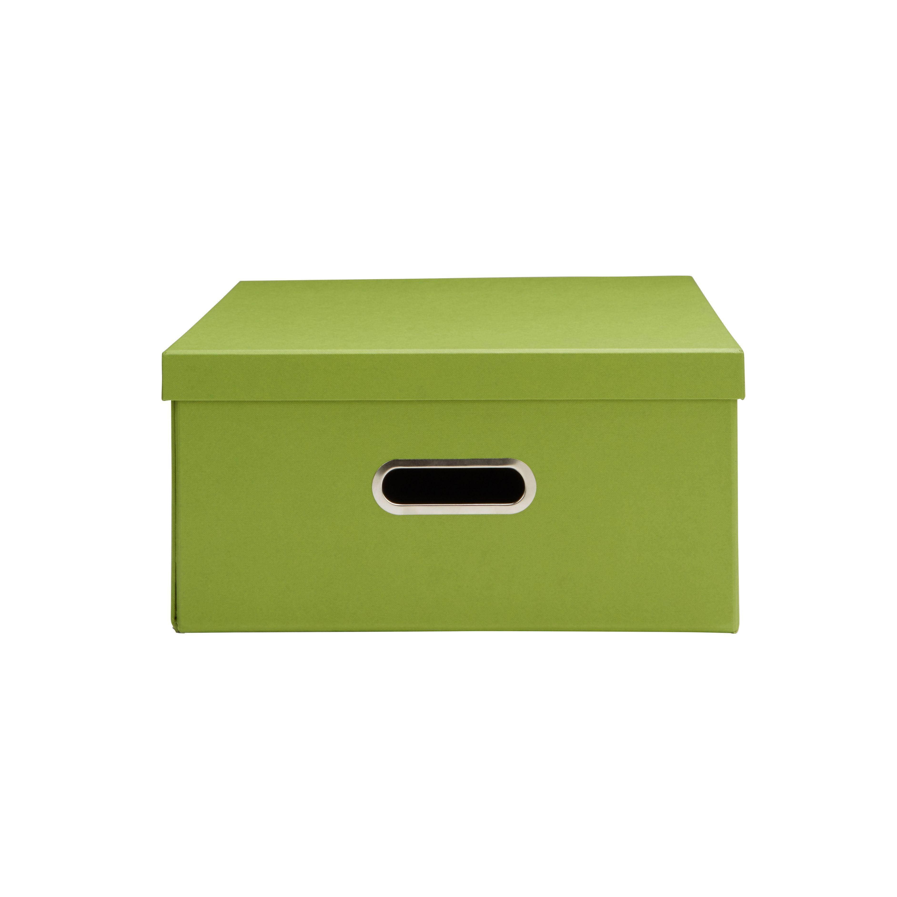 Green Cardboard Storage Box Departments Diy At B Amp Q