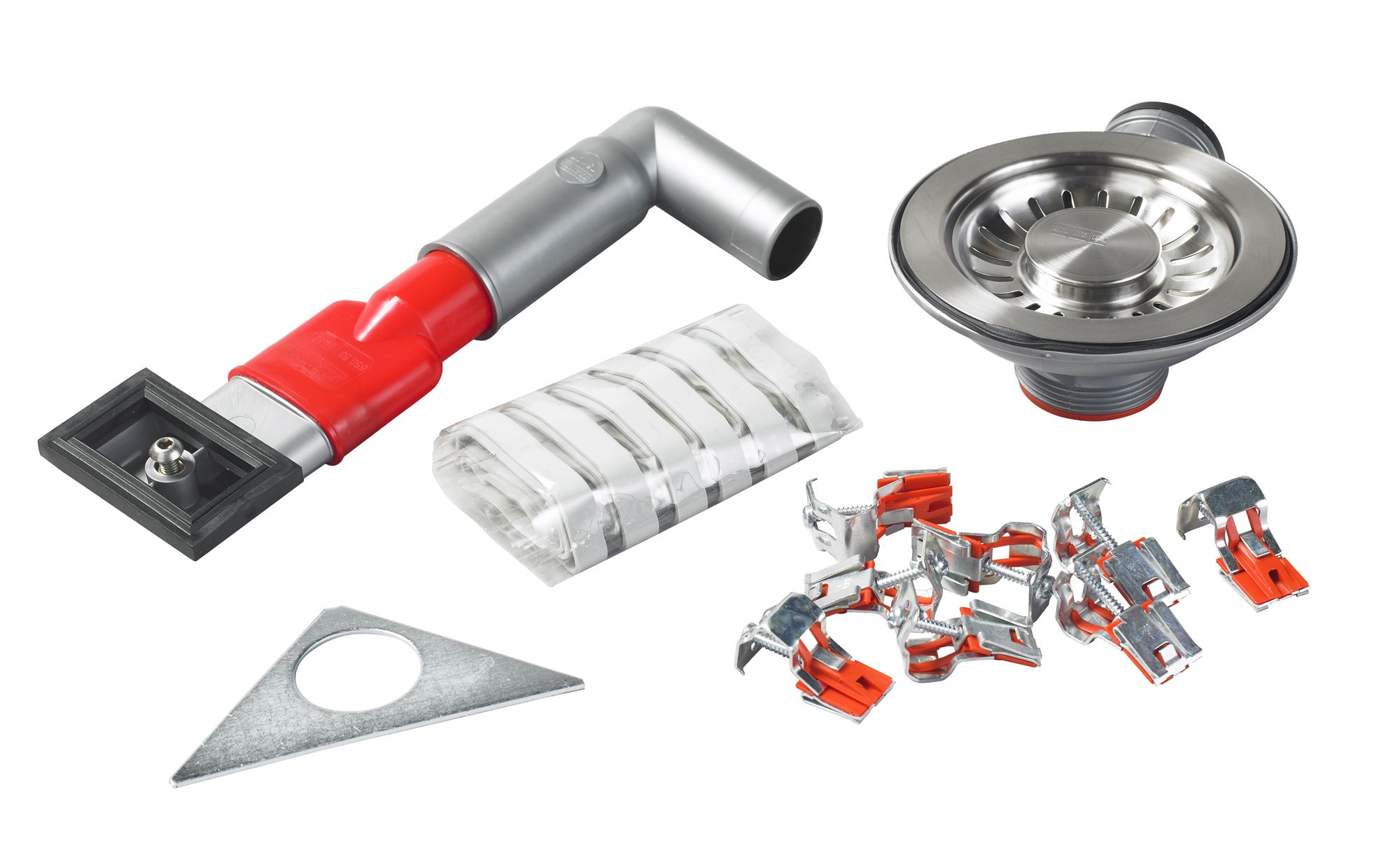 Franke Galassia Red Amp Silver Sink Fixing Kit Departments