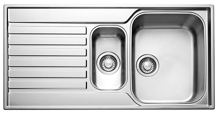 1.5 bowl inset kitchen sinks