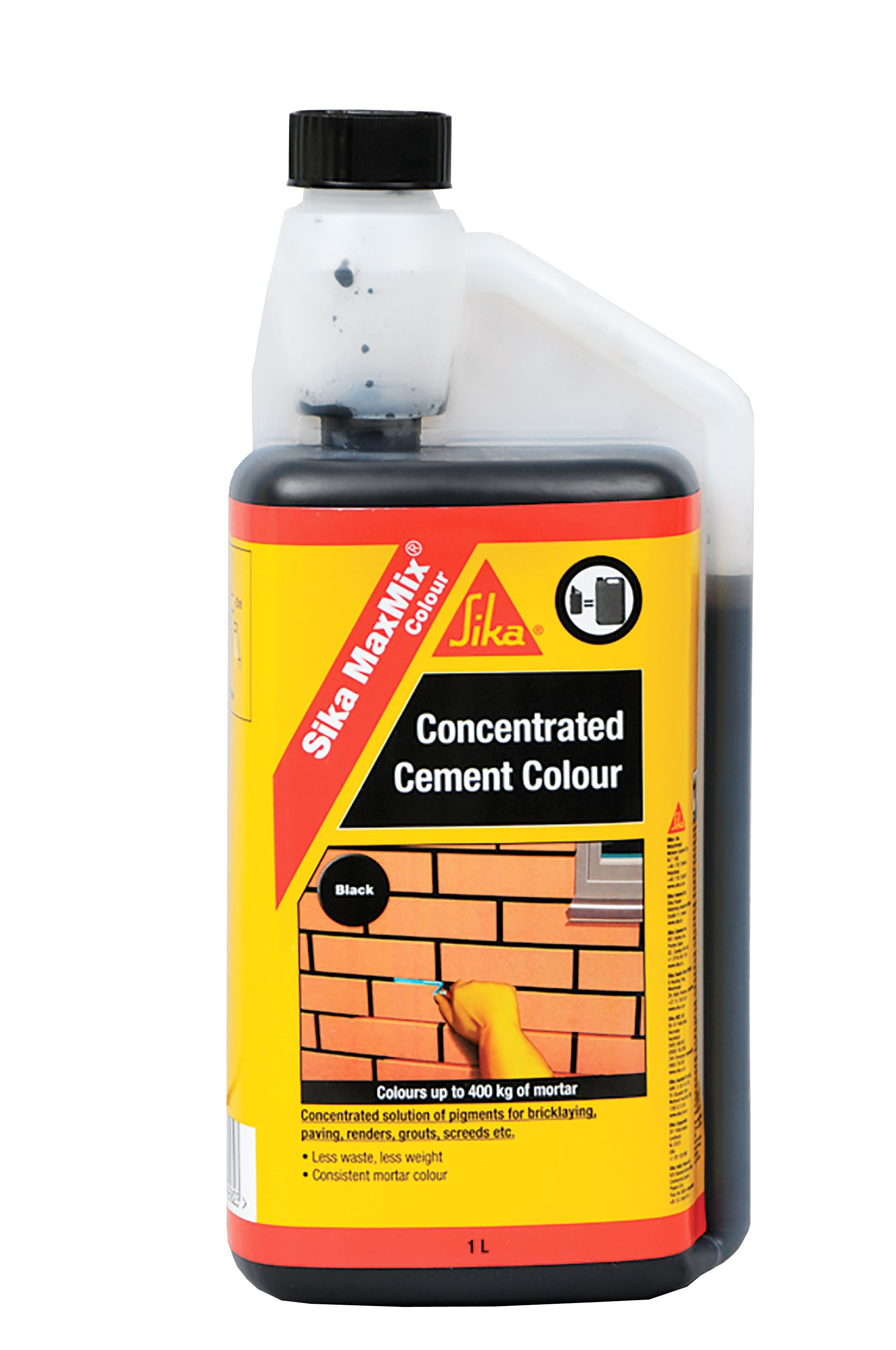 Sika Black Concentrated cement colourant 1000ml | Departments | DIY at B&Q