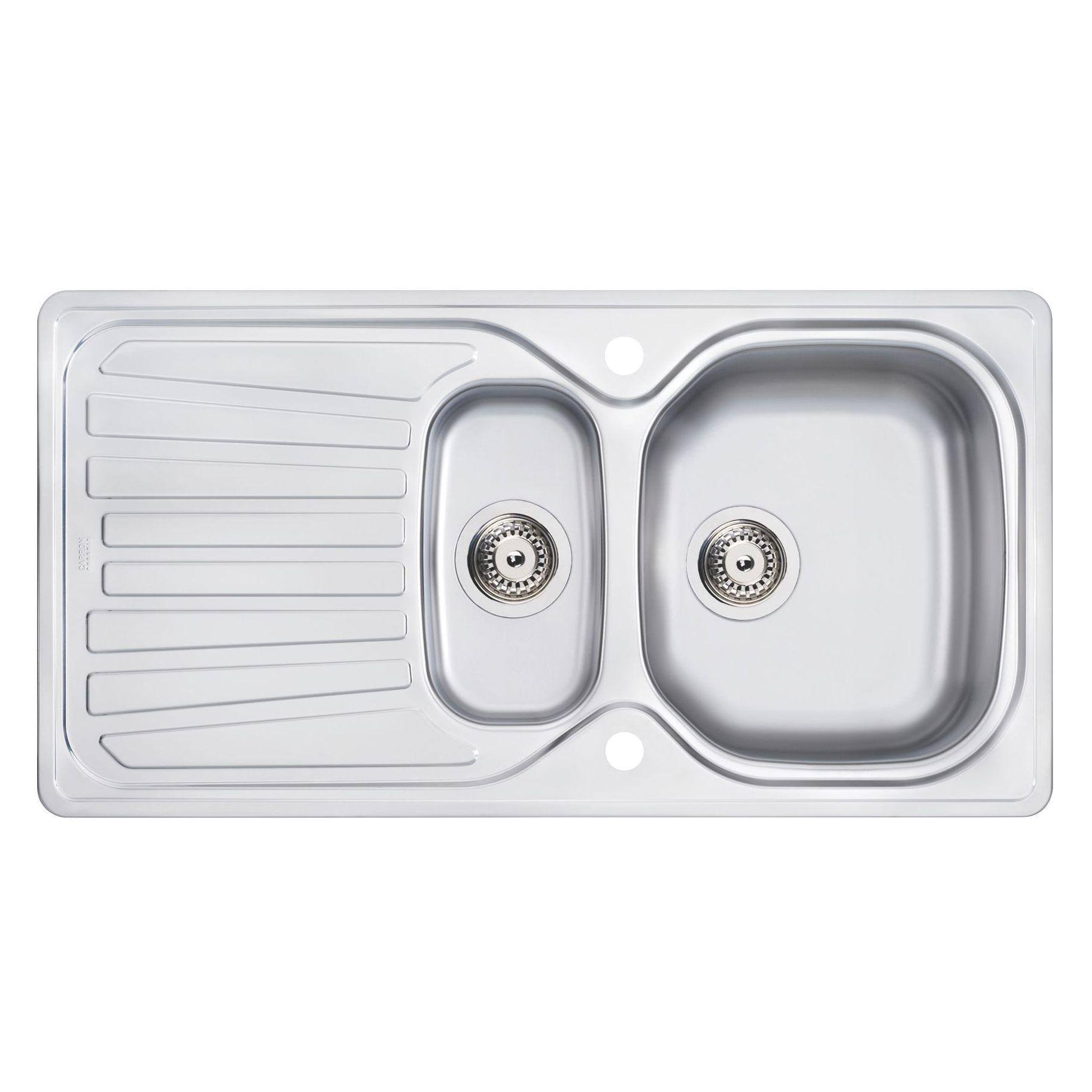 Carron Phoenix 1.5 Bowl Stainless Steel Sink | Departments | DIY ...