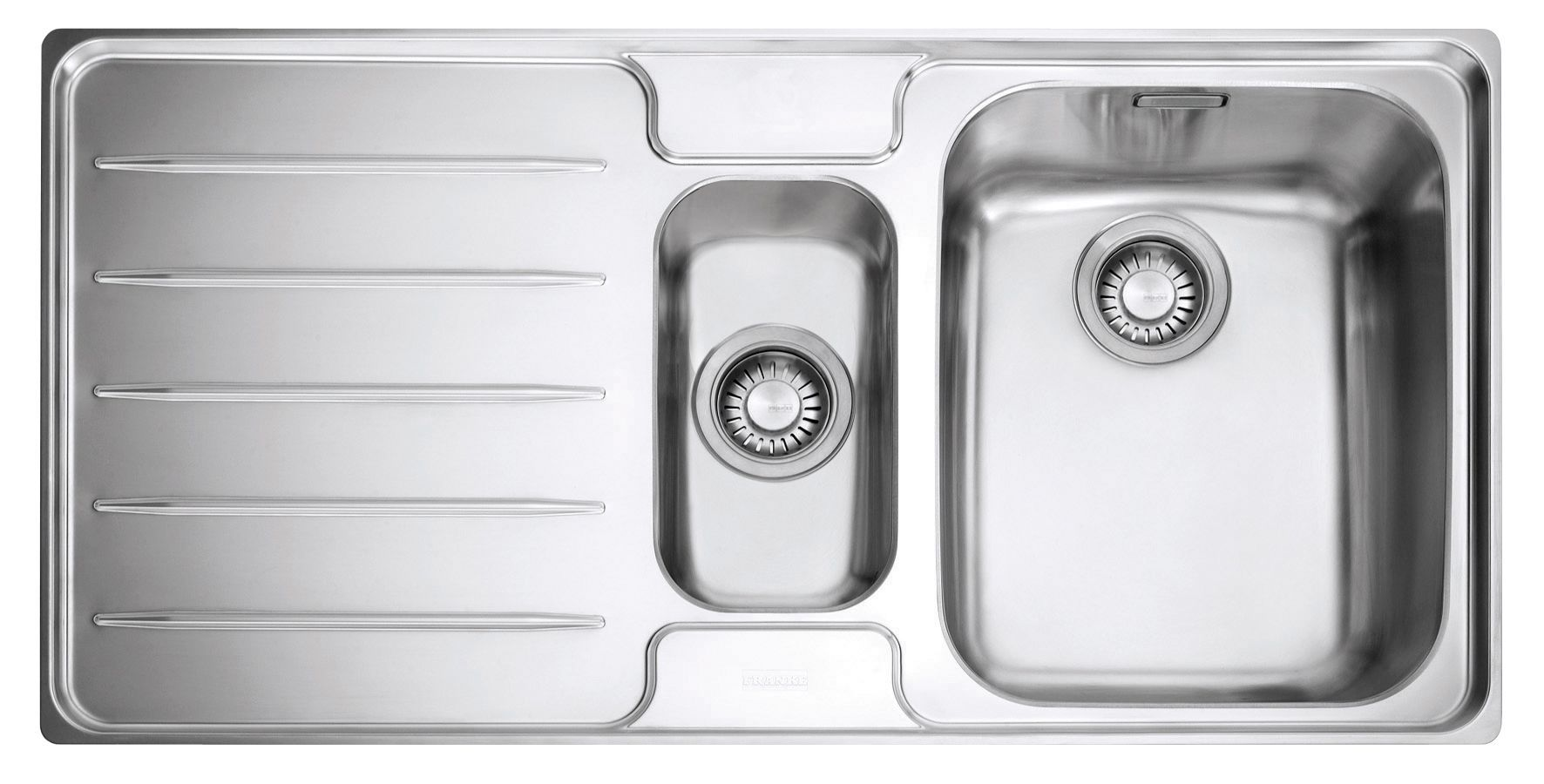 Franke Laser 1.5 Bowl Polished Stainless Steel 1.5 Kitchen Sink ...