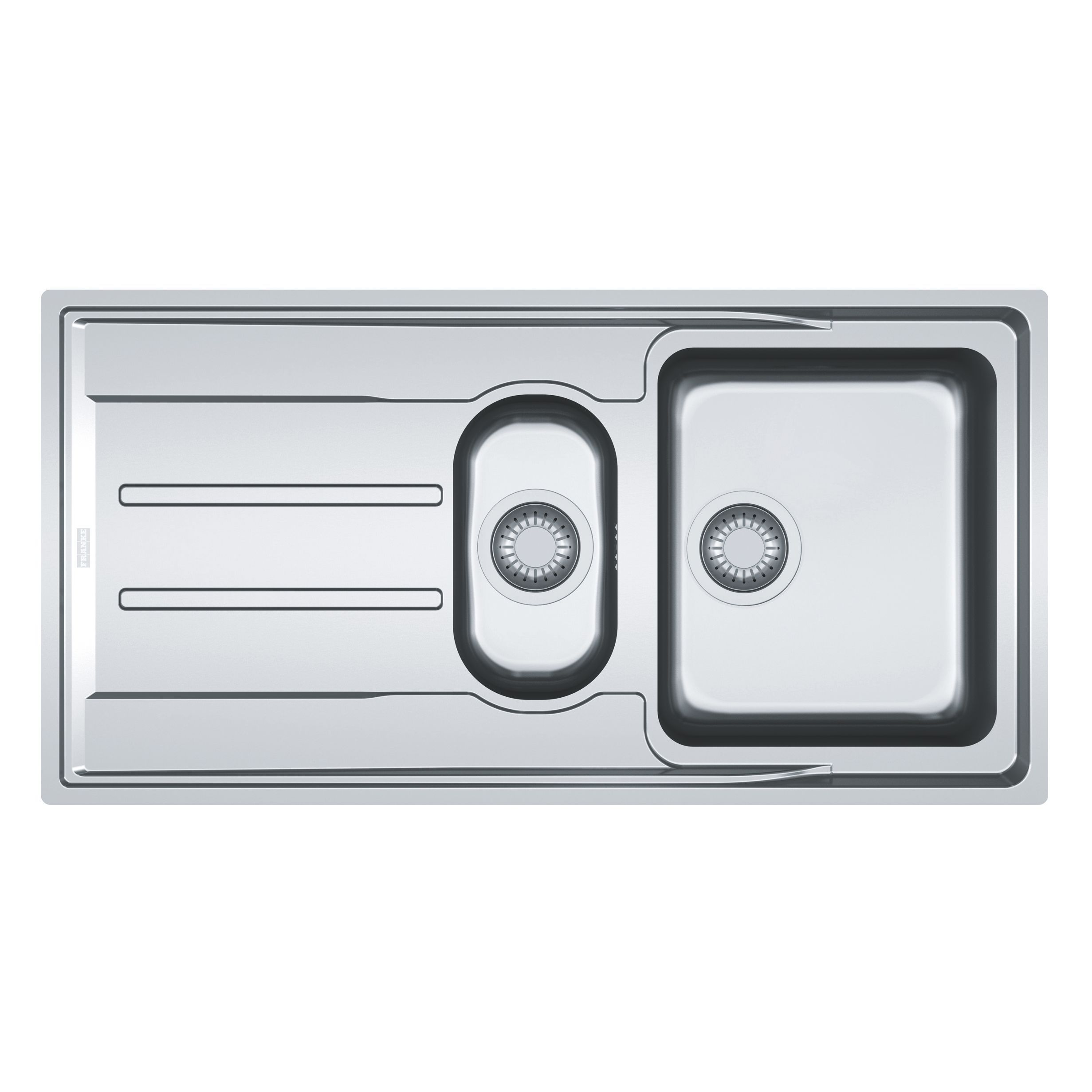 Franke Aton 1.5 bowl Polished Stainless steel Sink with reversible ...