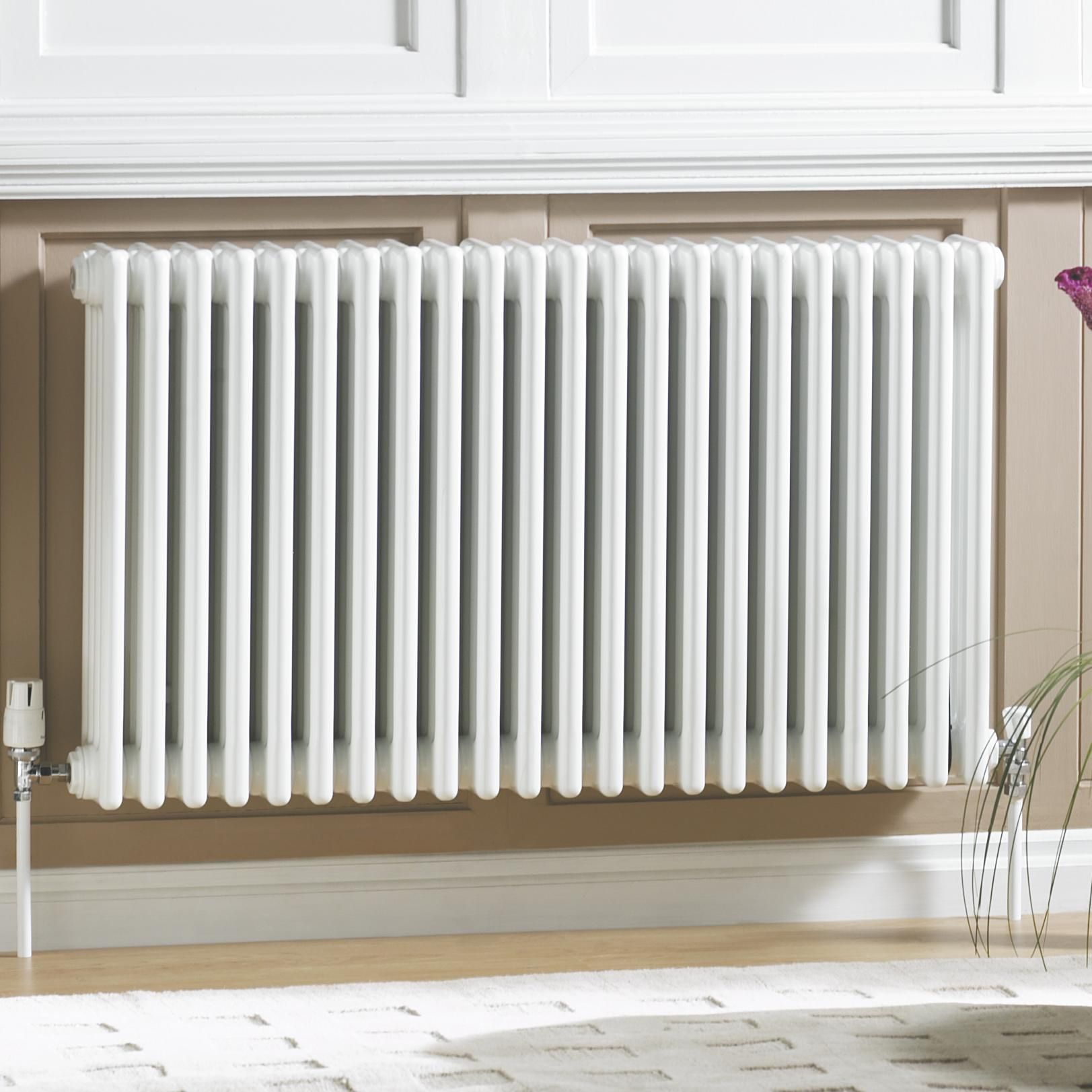 Acova 2 Column radiator, White (W)812mm (H)600mm