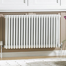 Acova 3 Column radiator, White (W)628mm (H)600mm