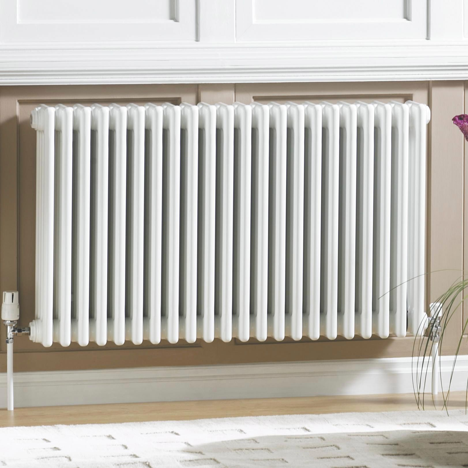 Acova 3 Column radiator, White (W)1042mm (H)600mm