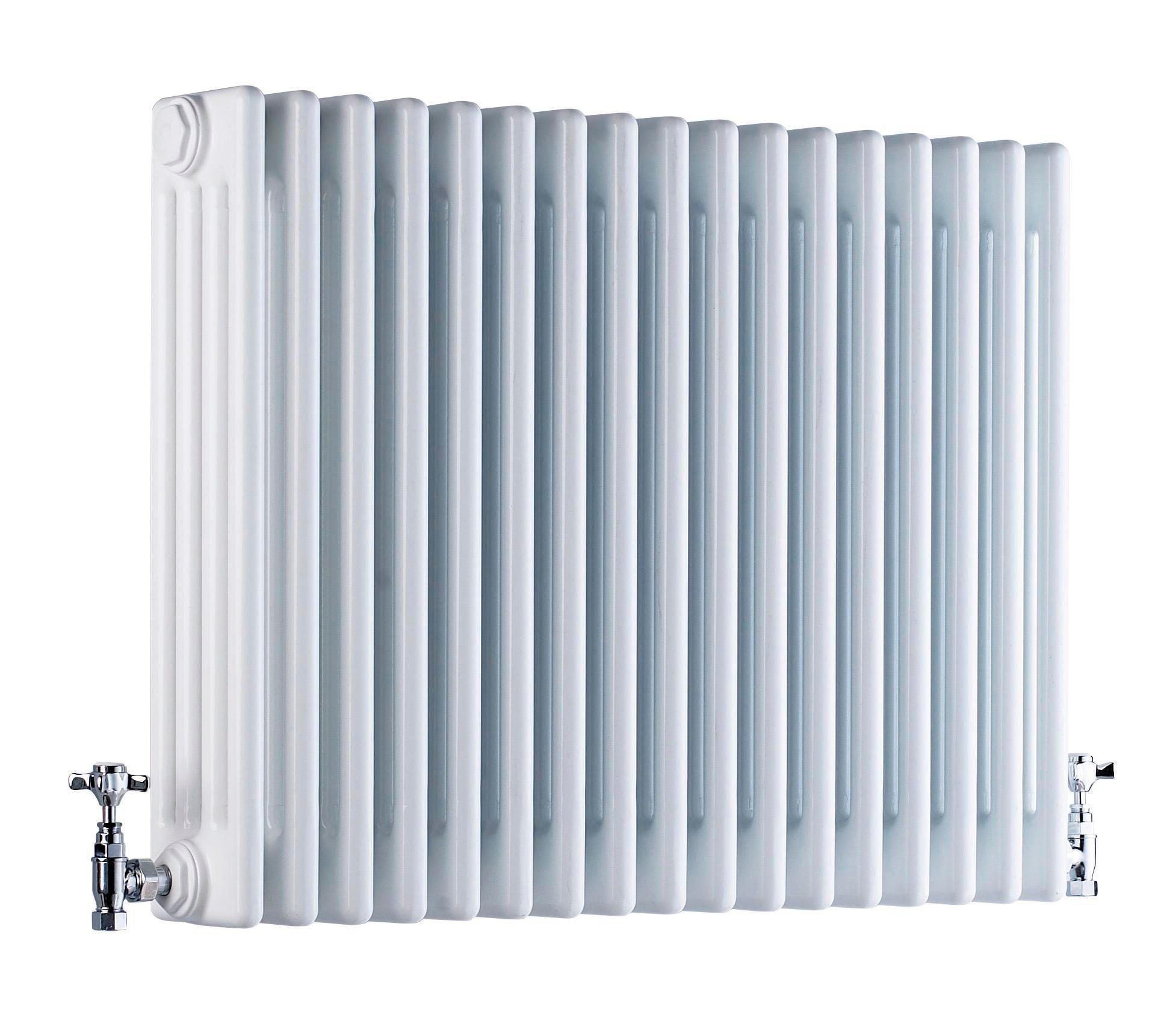 Acova 4 Column radiator, White (W)628mm (H)600mm | Departments | DIY ...