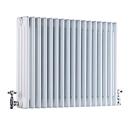 Acova 4 Column radiator, White (W)628mm (H)600mm