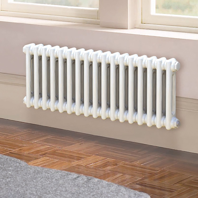 Acova 2 Column radiator, White (W)812mm (H)300mm