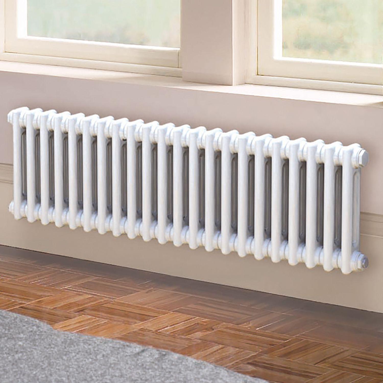 Acova 2 Column radiator, White (W)1042mm (H)300mm