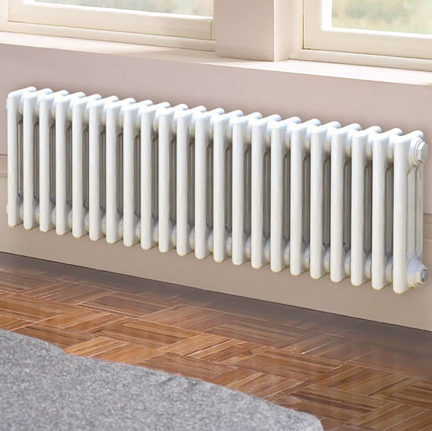 Acova 3 Column radiator, White (W)812mm (H)300mm
