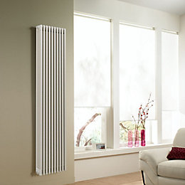 Acova 4 Column radiator, White (W)398mm (H)2000mm