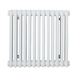 Acova 2 Column radiator, White (W)628mm (H)500mm