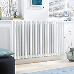 Acova 2 Column radiator, White (W)812mm (H)500mm