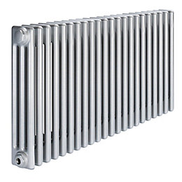 Acova 3 Column radiator, Silver (W)1042mm (H)600mm