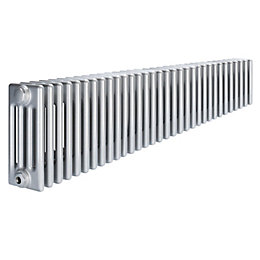 Acova 4 Column radiator, Silver (W)1502mm (H)300mm