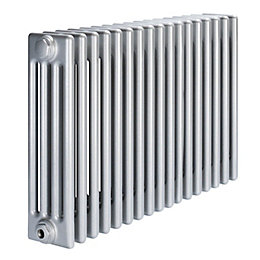 Acova 4 Column radiator, Silver (W)812mm (H)600mm
