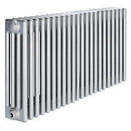 Acova 4 Column radiator, Silver (W)1042mm (H)600mm