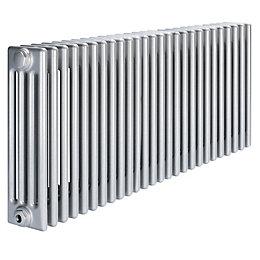 Acova 4 Column radiator, Silver (W)1226mm (H)600mm