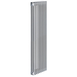 Acova 3 Column Radiator, Silver (W)490mm (H)2000mm