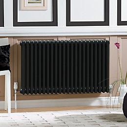 Acova 4 Column radiator, Volcanic (W)628mm (H)600mm
