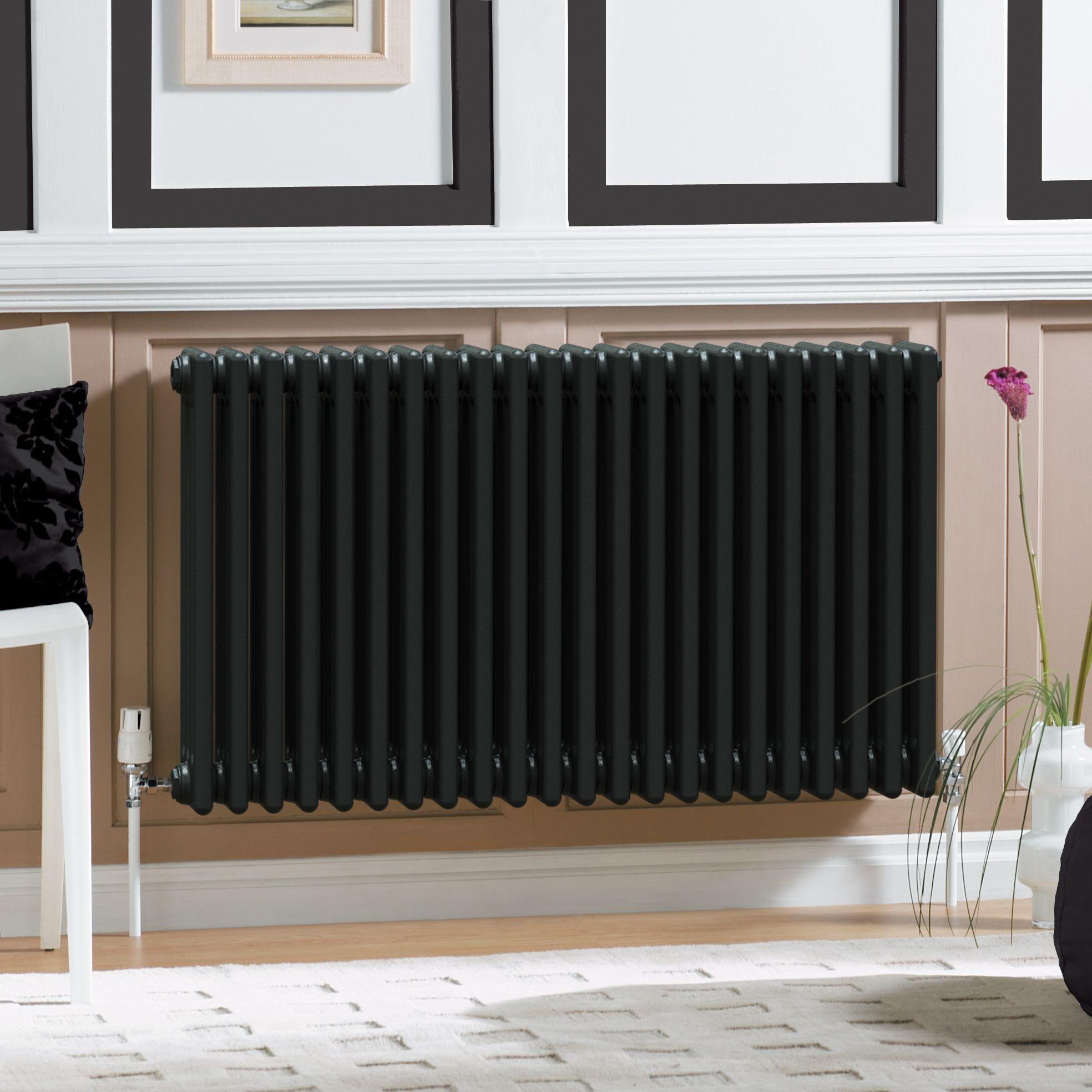 Acova 2 Column radiator, Volcanic (W)1226mm (H)600mm