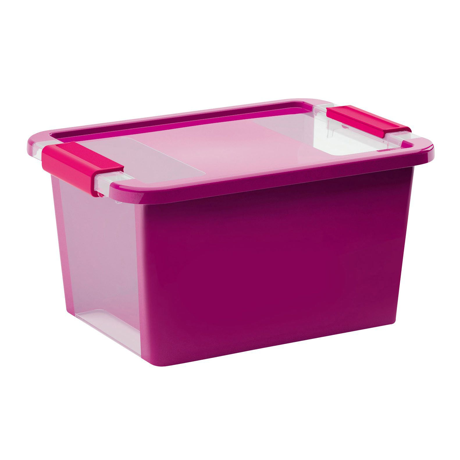 Bi Box Purple 11L Plastic Storage Box | Departments | DIY At Bu0026Q.