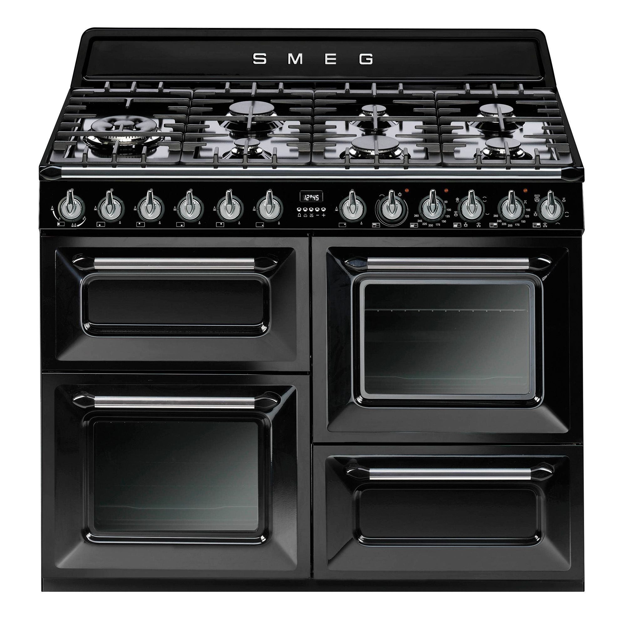 Smeg Dual Fuel Range Cooker With Gas Hob Tr4110bl1