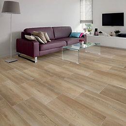 Nordico Beige Vintage Porcelain Floor Tile, Pack of