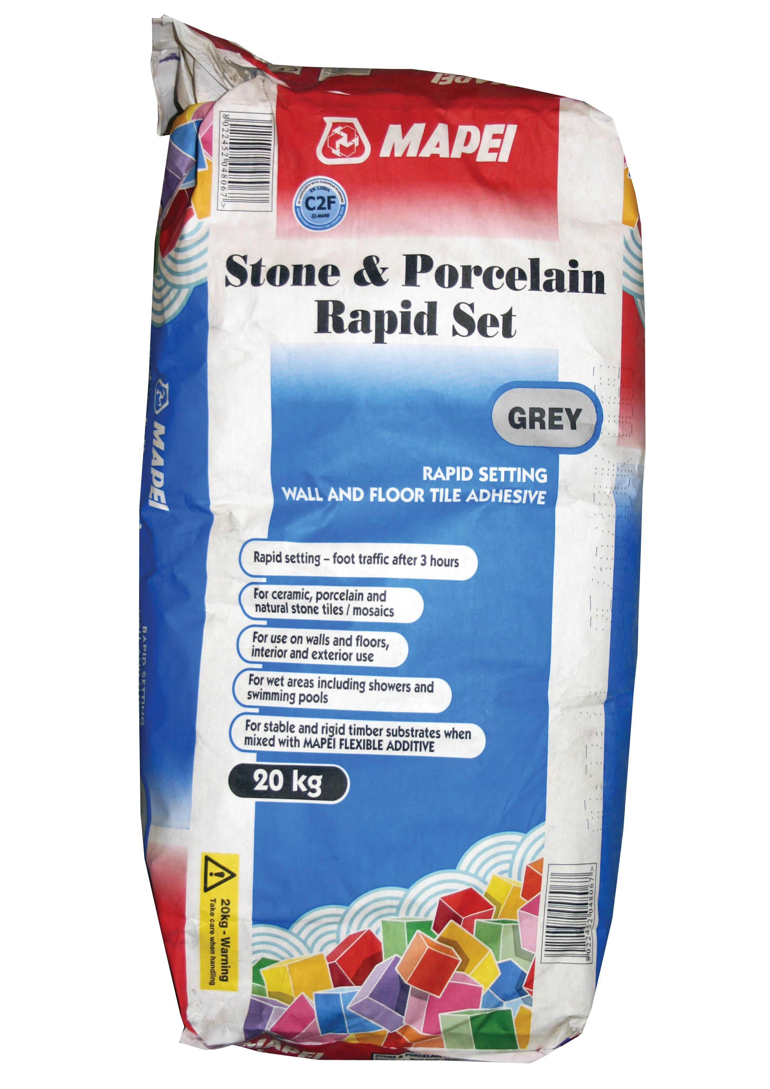 Mapei Fast Set Powder Stone Amp Porcelain Adhesive Grey