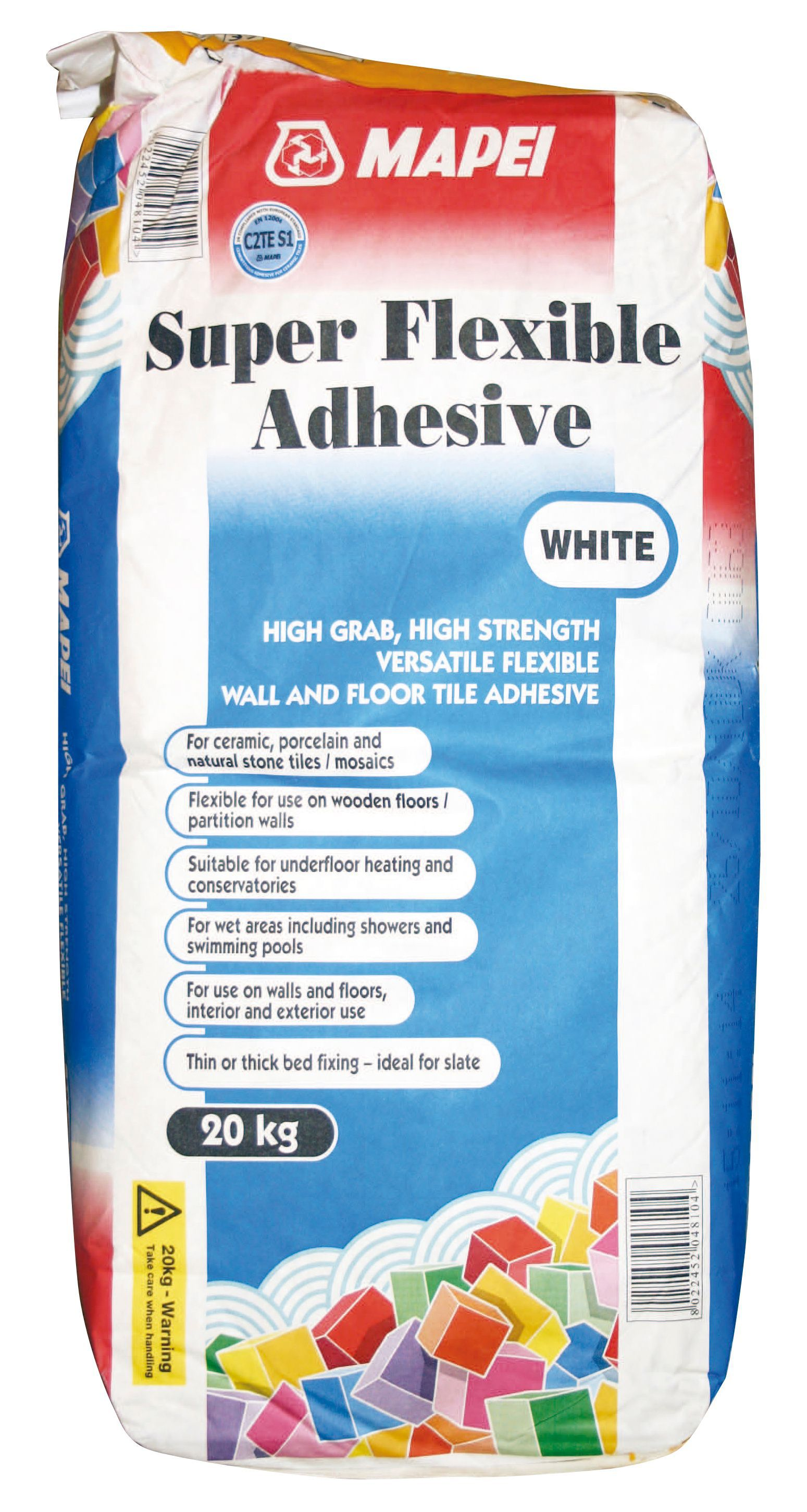 Mapei super flexible powder adhesive white 20kg departments mapei super flexible powder adhesive white 20kg departments diy at bq dailygadgetfo Gallery