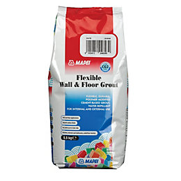Mapei Flexible White Wall & floor grout (W)2.5kg
