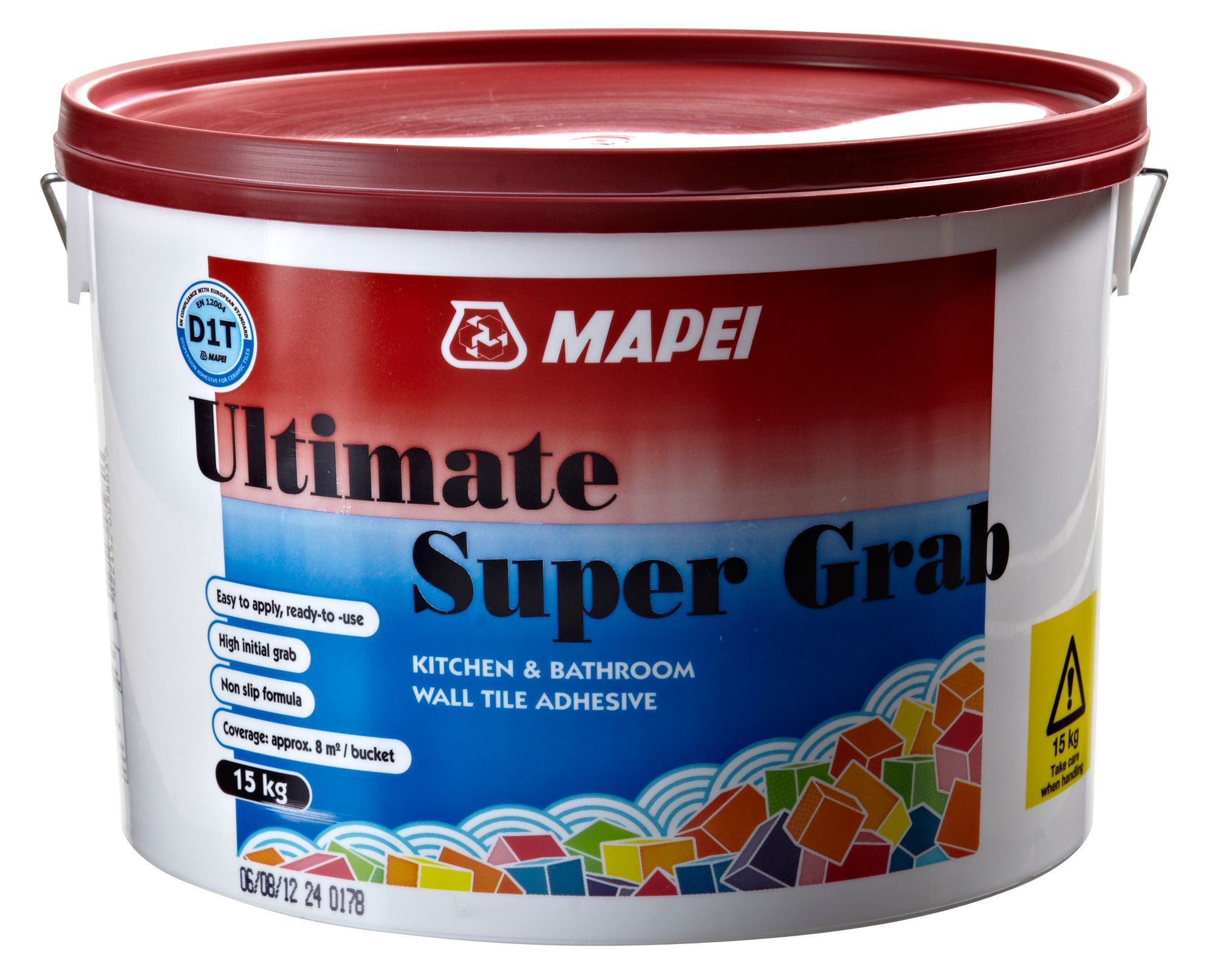 Mapei Ultimate Super Grab Ready to use Wall tile adhesive 15kg   Departments   DIY at B&Q