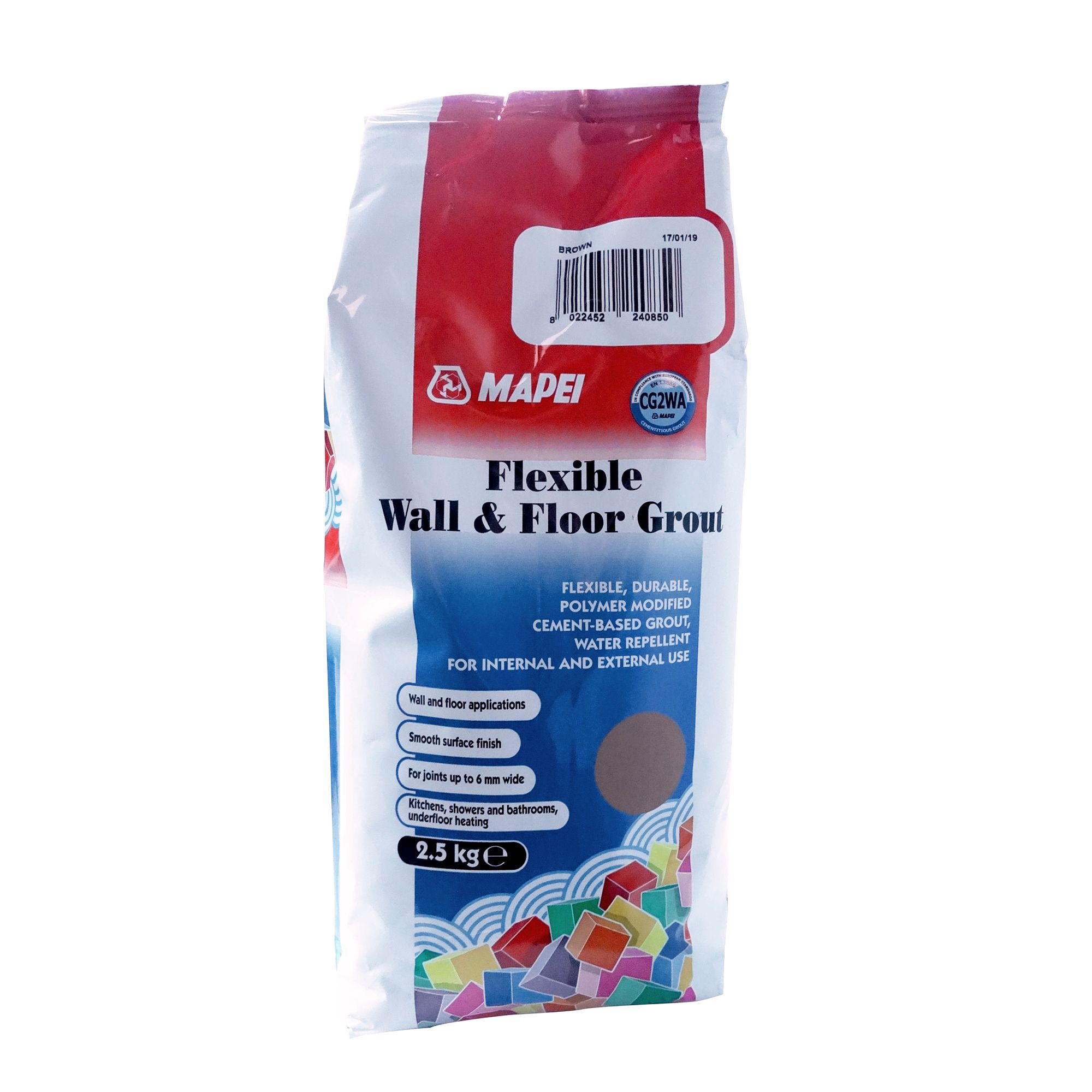 Mapei Brown Floor & wall Tile Grout, 2.5kg | Departments ...