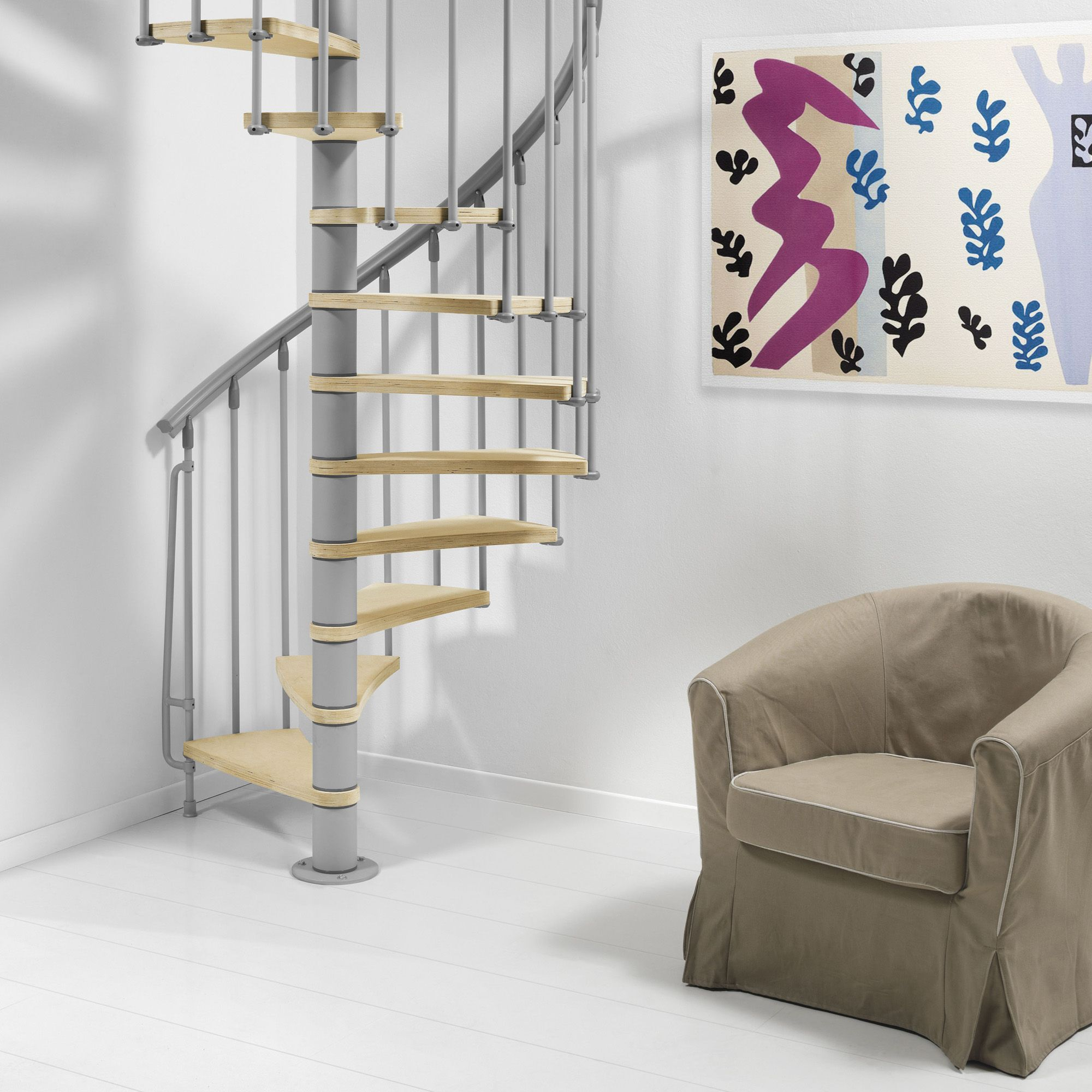 Fontanot Nice Spiral Staircase (D)130 cm
