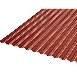 Grey & red PVC Corrugated Roofing Sheet 2m