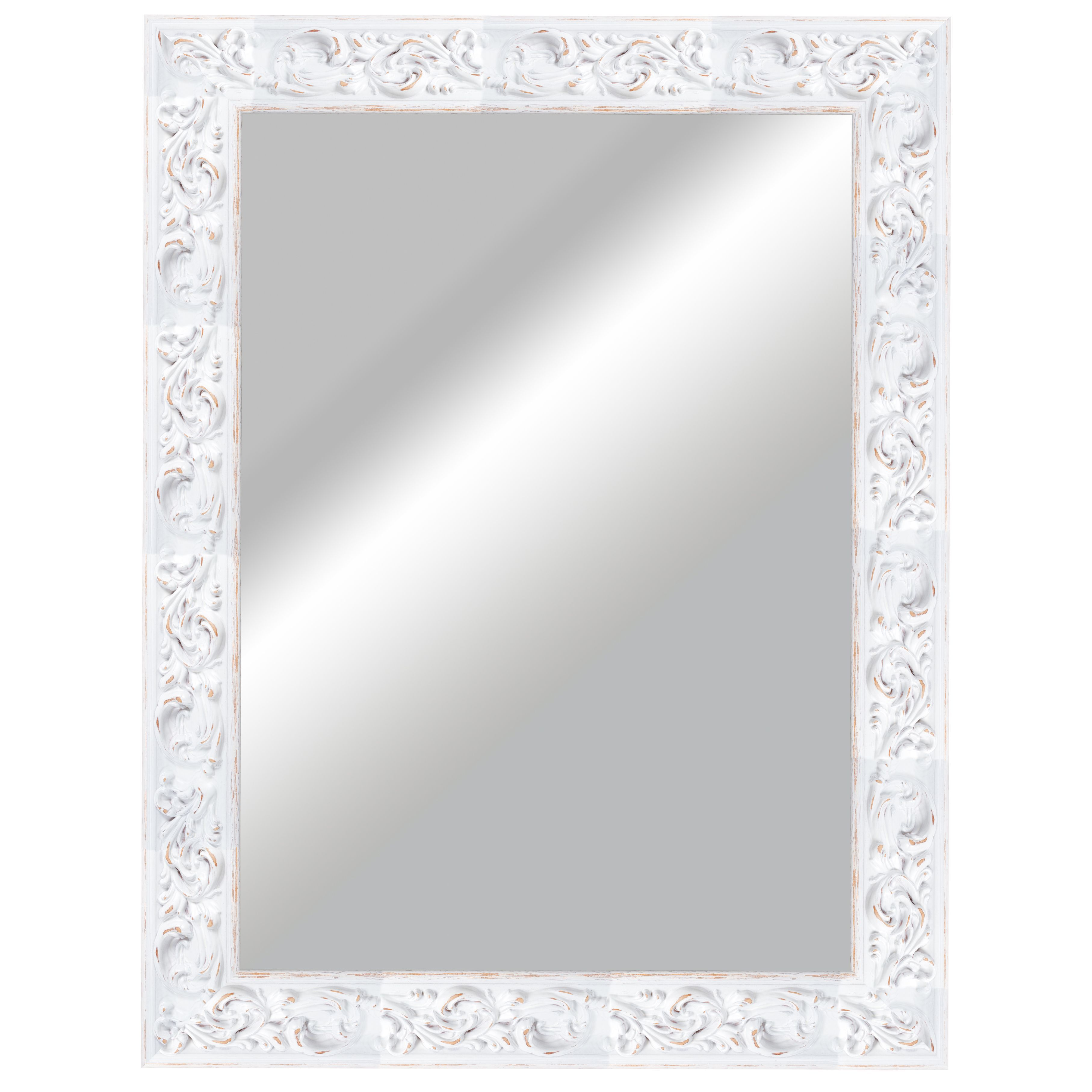 Rustic Painted Framed Rectangular Mirror H 830mm W