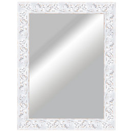 Rustic Painted Framed Rectangular Mirror (H)830mm (W) 630mm